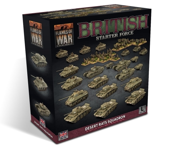 Flames of War: British Starter Force- Desert Rats Squadron