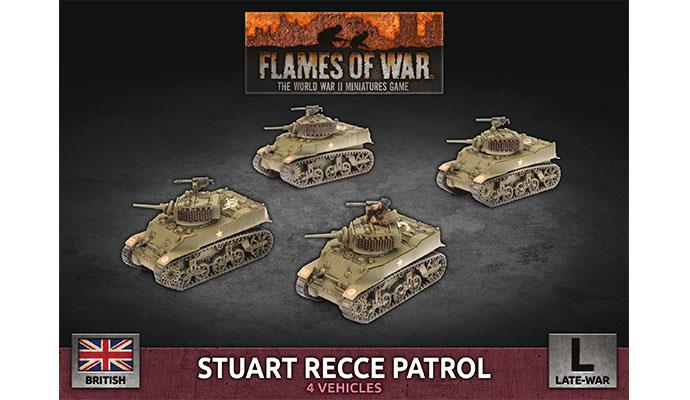 Flames of War: British: Stuart Recce Patrol [Plastic]