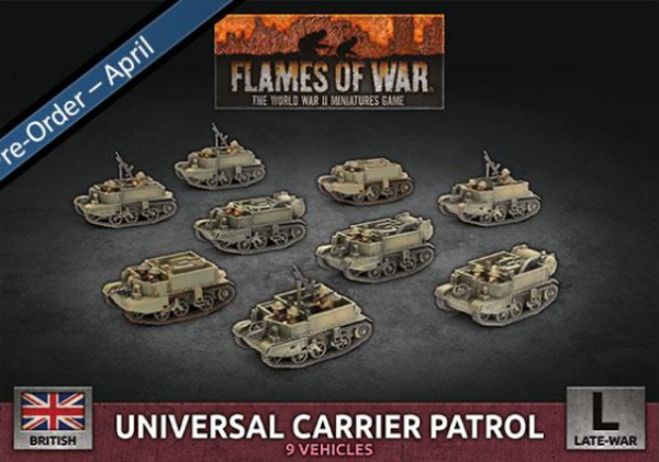 Flames of War: British: Universal Carrier Patrol