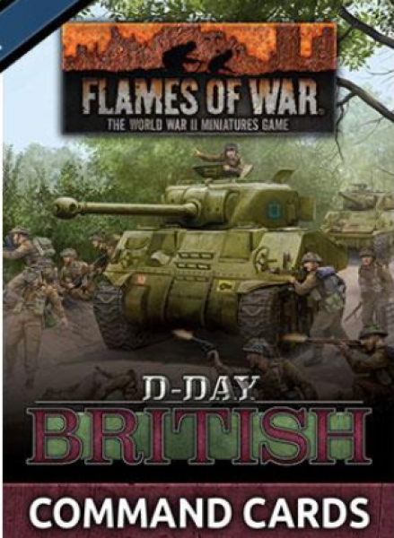 Flames of War: D-Day British Command Cards