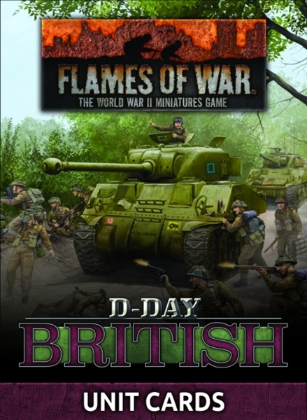 Flames of War: D-Day British Unit Cards