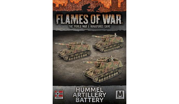 Flames of War: German: Hummel Artillery Battery