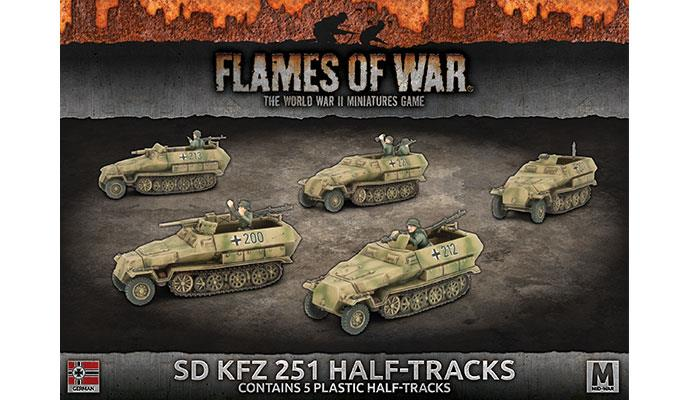 Flames of War: German: SD KFZ 251 Half-tracks