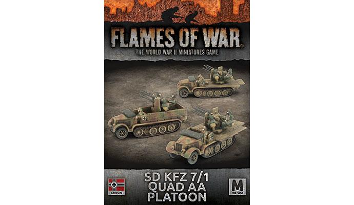 Flames of War: German: Sd Kfz 7/1 Quad AA Platoon