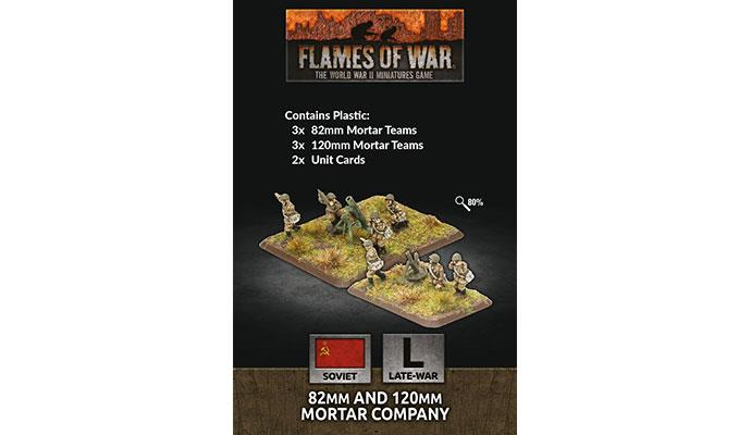 Flames of War: Soviet: 82mm and 120mm Mortar Company (Plastic)