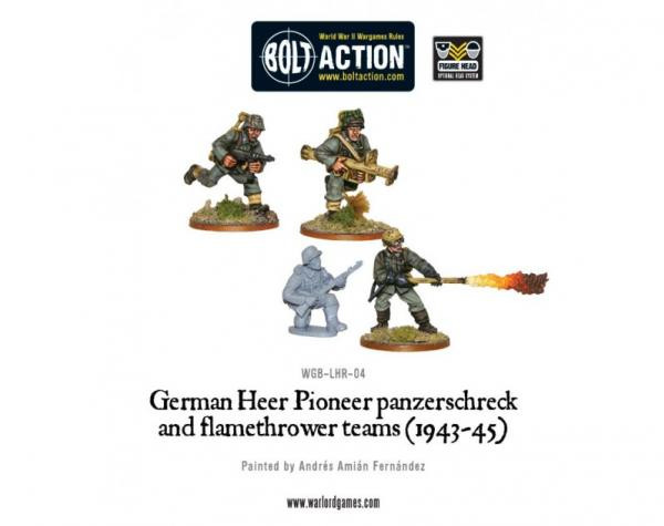 Bolt Action: German: Flamethrower & Panzerschreck (4)