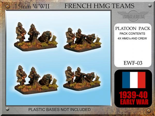 Forged in Battle: French: Early War French HMG Teams x 4