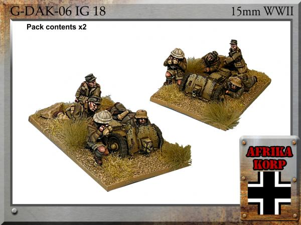 Forged in Battle: German: 15cm Africa Korps IG18, 7.5cm Infantry Gun & Crew