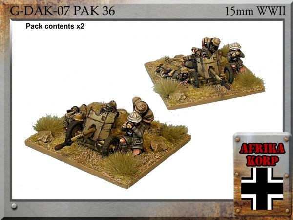 Forged in Battle: German: 15cm Africa Korps Pak 36, 3.7cm Anti-tank Gun & Crew