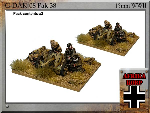 Forged in Battle: German: 15cm Africa Korps Pak 38, 5cm Anti-tank Gun & Crew