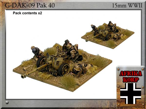 Forged in Battle: German: 15cm Africa Korps Pak 40, 7.5cm Anti-tank Gun & Crew