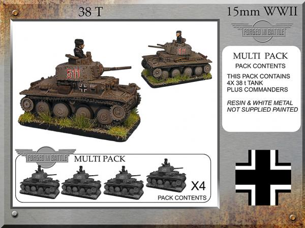 Forged in Battle: German: Pz38t (4)