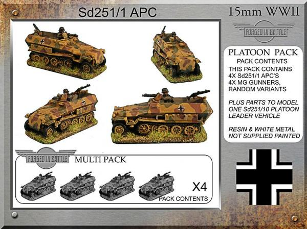 Forged in Battle: German: Sd251c APC Pack