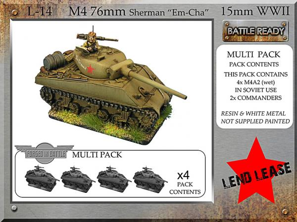 Forged in Battle: Russian: M4 76mm Emcha (M4A2 76mm Sherman)