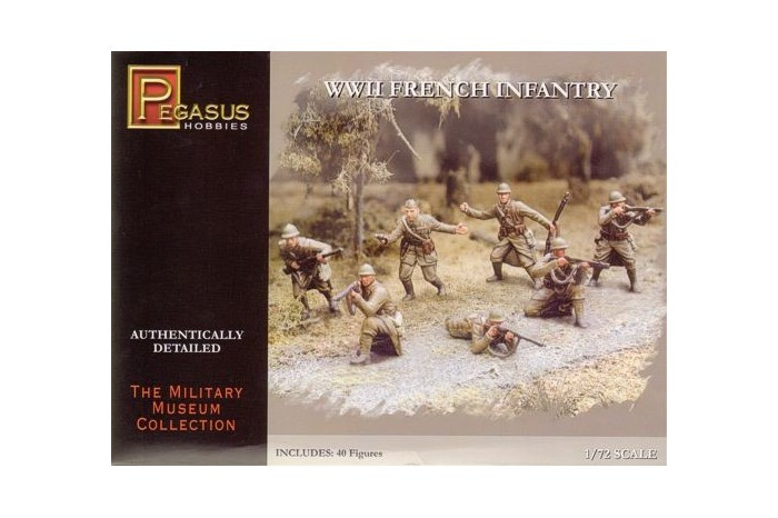 Pegasus Hobbies: WWII French Infantry 1/72
