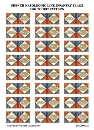 Victrix: Flag Sheets: French set of Regimental Colours