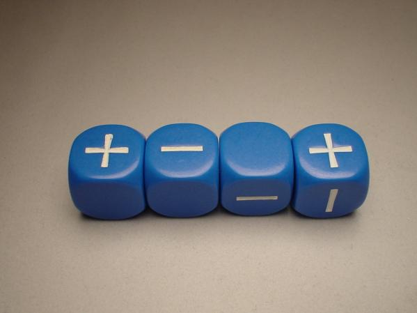 Fudge Dice: Blue