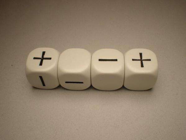 Fudge Dice: White
