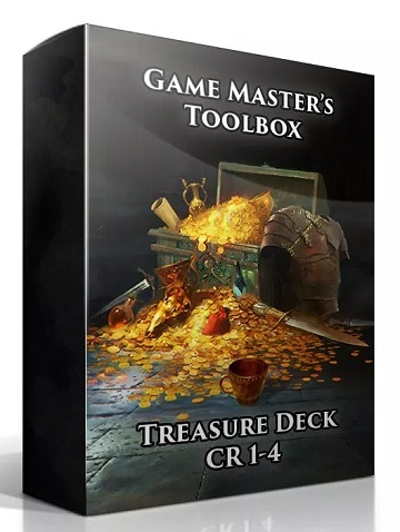 Game Masters Toolbox: Treasure Deck CR 1-4 (5E D&D Compatible)
