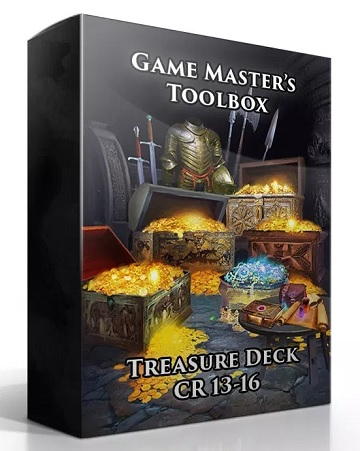 Game Masters Toolbox: Treasure Deck CR 13-16 (5E D&D Compatible)
