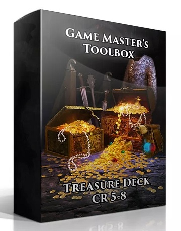 Game Masters Toolbox: Treasure Deck CR 5-8 (5E D&D Compatible)