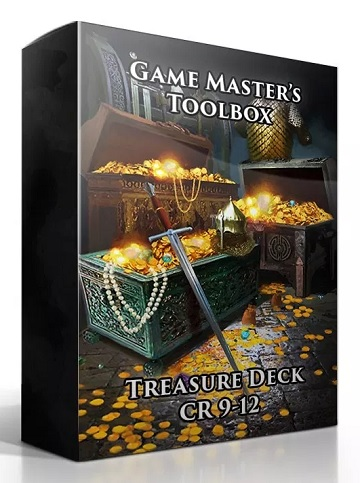 Game Masters Toolbox: Treasure Deck CR 9-12 (5E D&D Compatible)