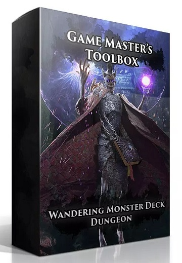 Game Masters Toolbox: Wandering Monsters Deck- Dungeon (5E D&D Compatible)