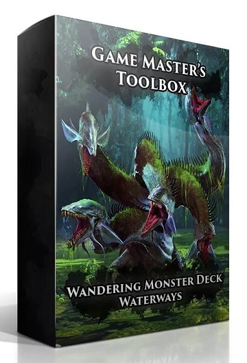Game Masters Toolbox: Wandering Monsters Deck- Waterways (5E D&D Compatible)