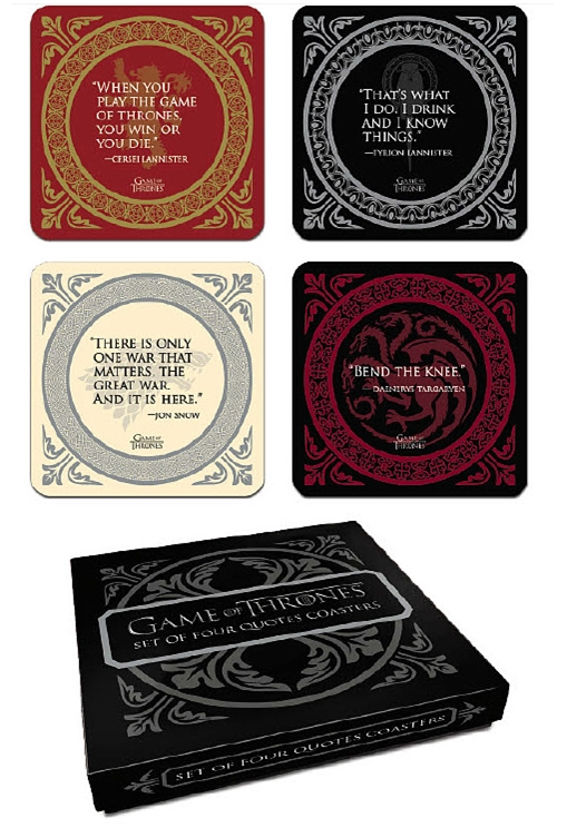 Game of Thrones: Coaster Set Quotes