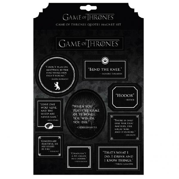 Game of Thrones: Magnet Set Quotes