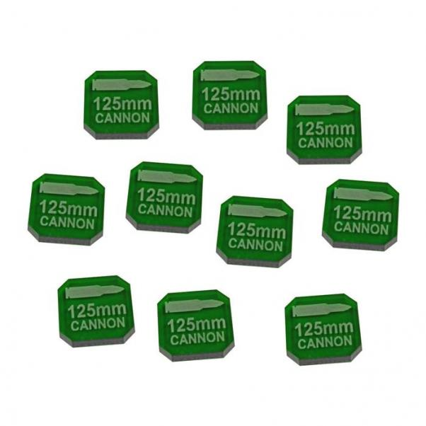 Gaslands: 125mm Cannon Ammo Tokens, Translucent Green