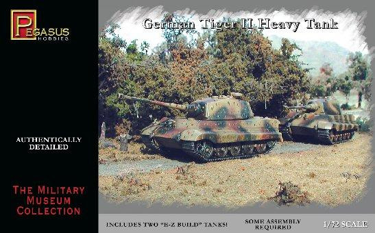 Pegasus Hobbies WWII 1/72: German Tiger II Heavy Tank