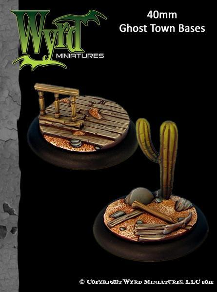 Malifaux: Base Inserts - Ghost Town - 40mm (2)