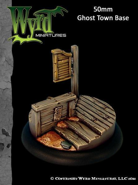 Malifaux: Base Inserts - Ghost Town - 50mm (1)