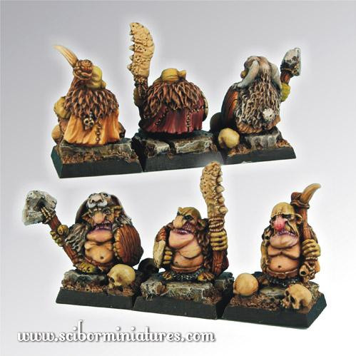 Scibor Monstrous Miniatures: Goblin Warriors set #1 (3)