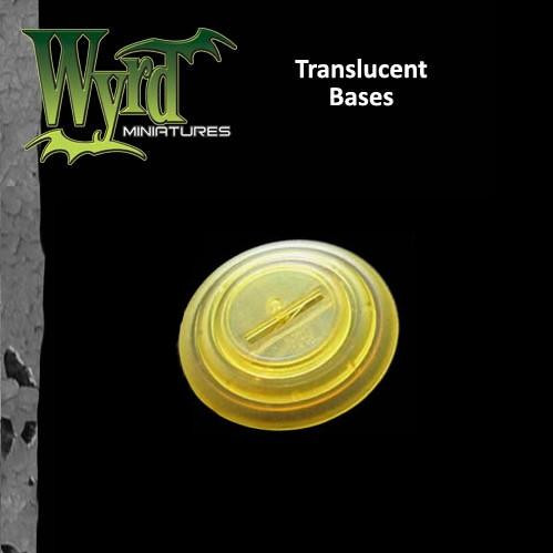 Malifaux: Gold Translucent Bases: 40mm