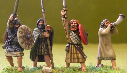 Gripping Beast 28mm Age Of Arthur: Irish- Irish Command #1 (4)