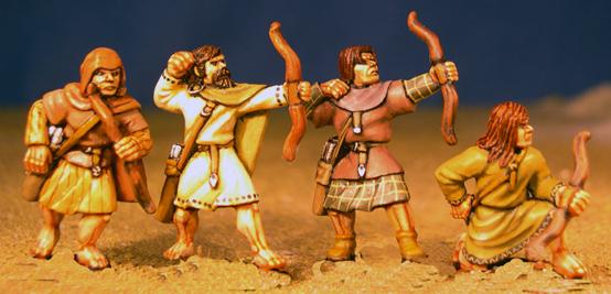 Gripping Beast 28mm Age Of Arthur: Pict- Hunters with Bows (4)