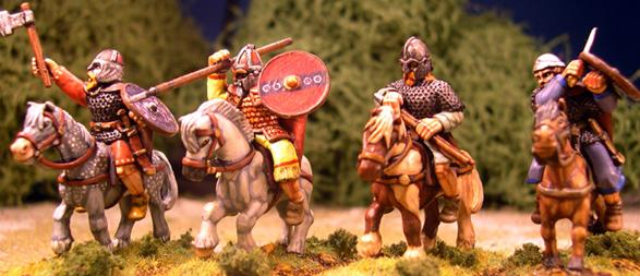 Gripping Beast 28mm Age Of Arthur: Pict- Mounted Pict Heroes (4)