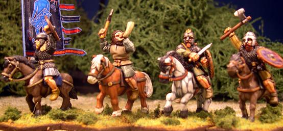 Gripping Beast 28mm Age Of Arthur: Pict- Mounted Pict Noble Command (4)
