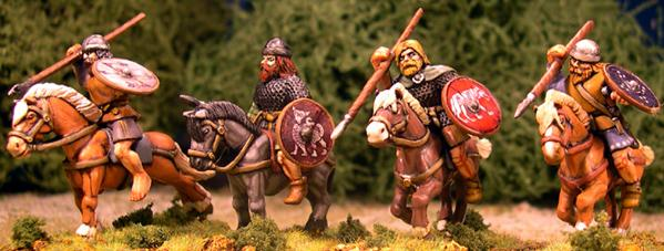 Gripping Beast 28mm Age Of Arthur: Pict- Mounted Pict Nobles (4)