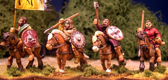 Gripping Beast 28mm Age Of Arthur: Pict- Mounted Pict Warrior Command (4)