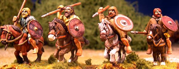 Gripping Beast 28mm Age Of Arthur: Pict- Mounted Pict Warriors (4)