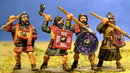 Gripping Beast 28mm Age Of Arthur: Pict- Nobles Attacking (4)