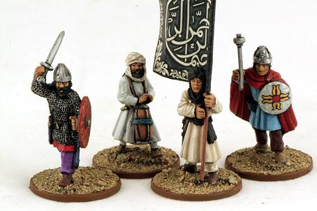 Gripping Beast 28mm Armies Of Islam: Arab Infantry (Command) (4)