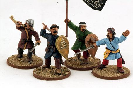 Gripping Beast 28mm Armies Of Islam: Seljuk Light Infantry (Command) (4)