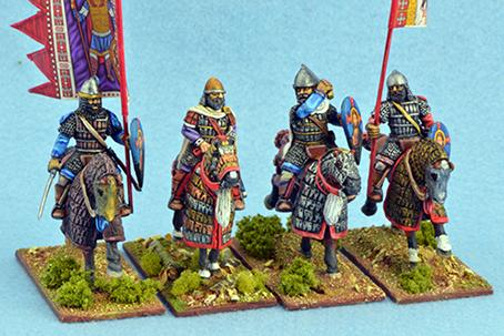 Gripping Beast 28mm Byzantine: Byzantine Generals, Officers & Standard Bearers (4)
