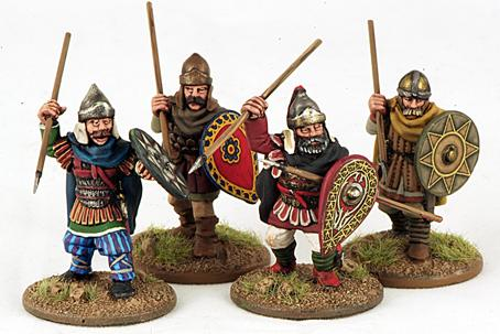 Gripping Beast 28mm Byzantine: Russian- City Militia Attacking (4)