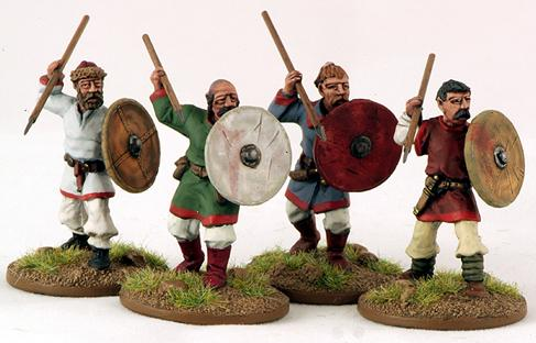 Gripping Beast 28mm Byzantine: Slavic- Warriors (4)