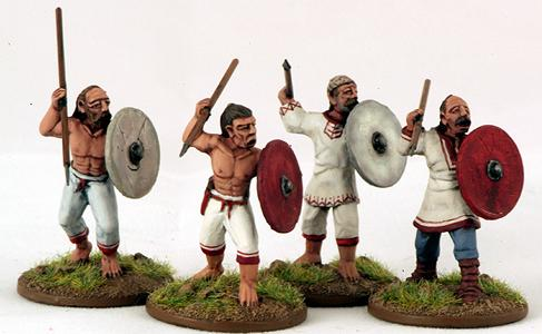 Gripping Beast 28mm Byzantine: Slavic- Warriors/Skirmishers (4)